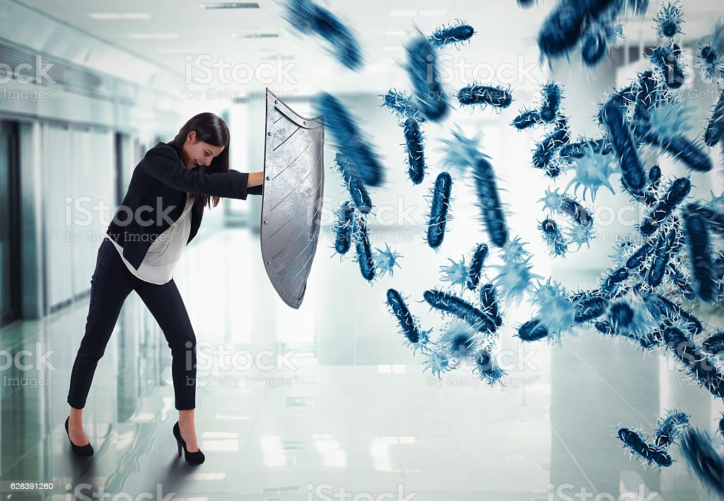 Shield against disease - foto stock
