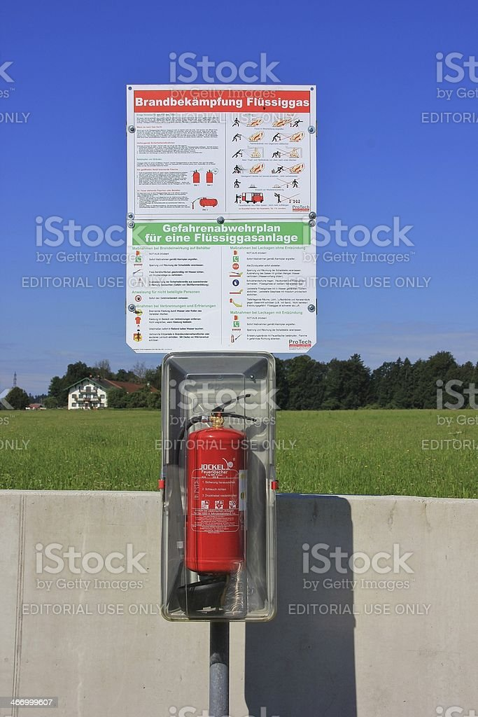 Shield for fire protection stock photo
