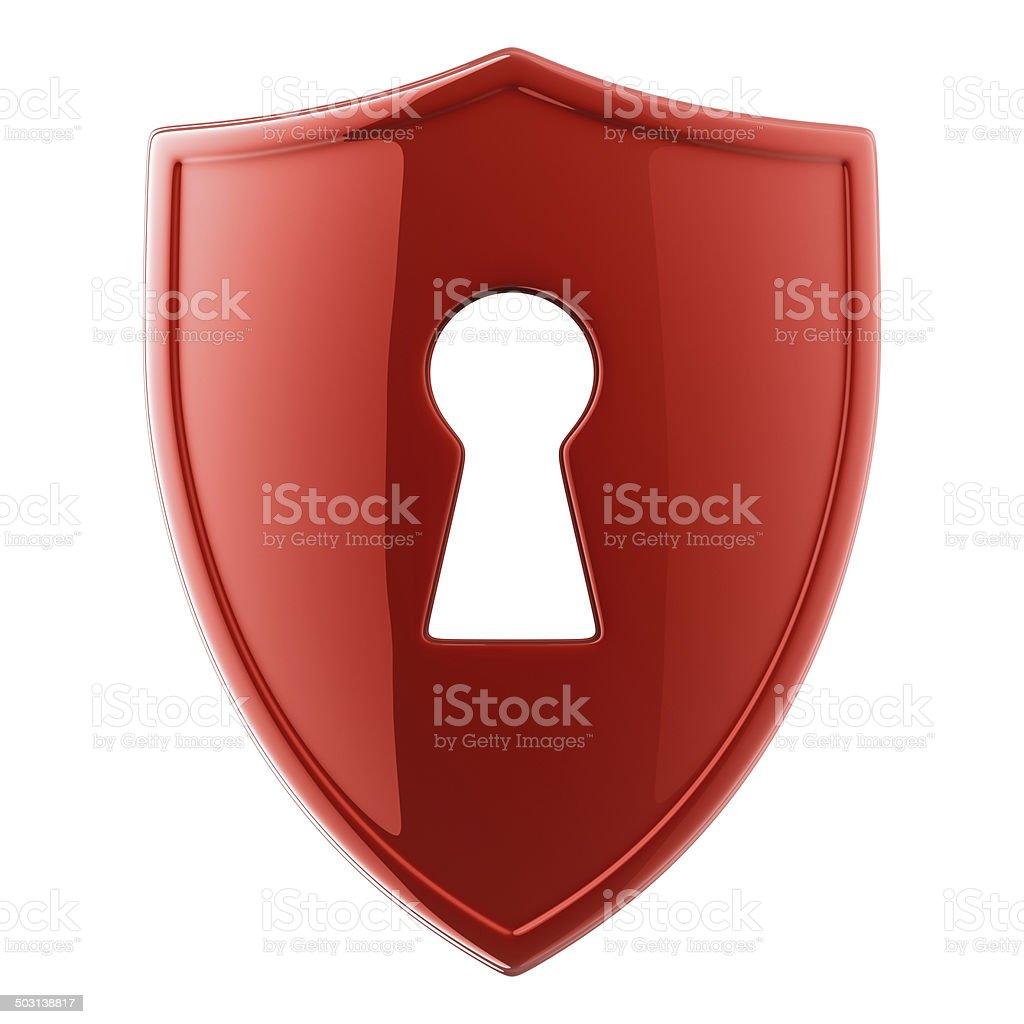 Shield Lock stock photo