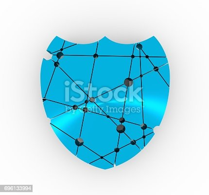 istock Shield low poly style. Security emblem 696133994