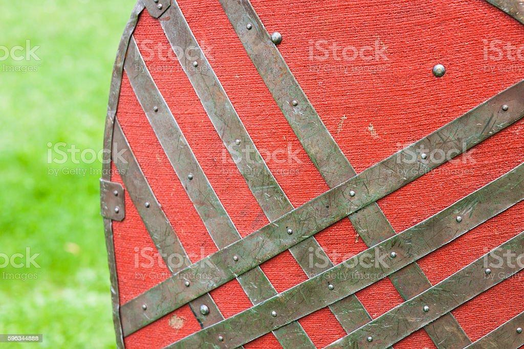 Shield of a medieval warrior Lizenzfreies stock-foto