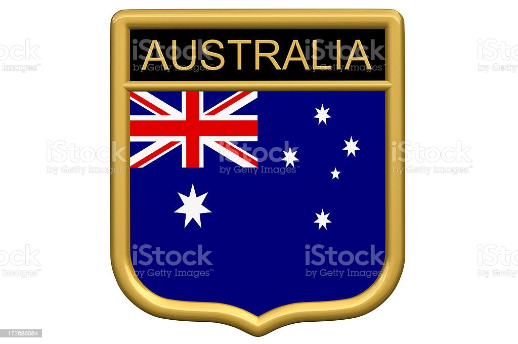Shield Patch - Australia royalty-free stock photo