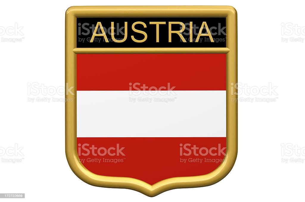 Shield Patch - Austria royalty-free stock photo