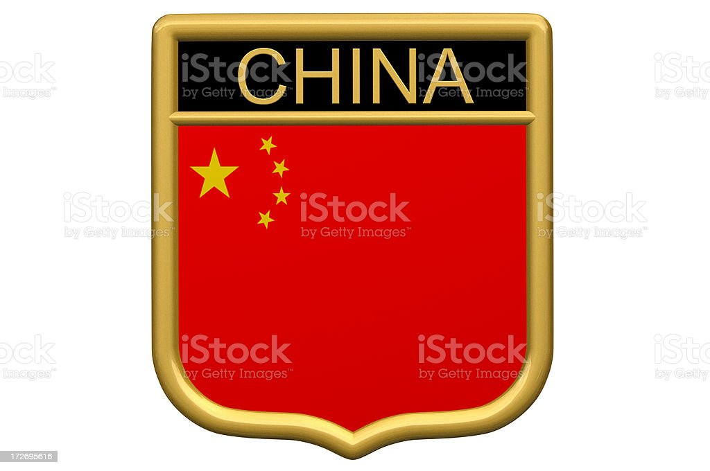 Shield Patch - China royalty-free stock photo