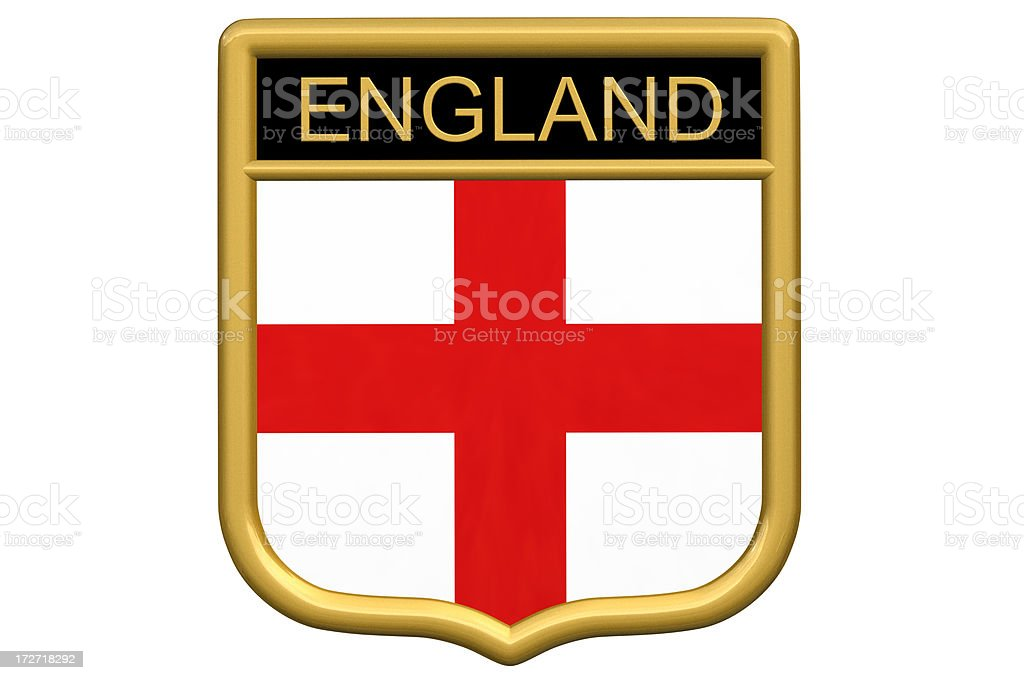 Shield patch - England royalty-free stock photo