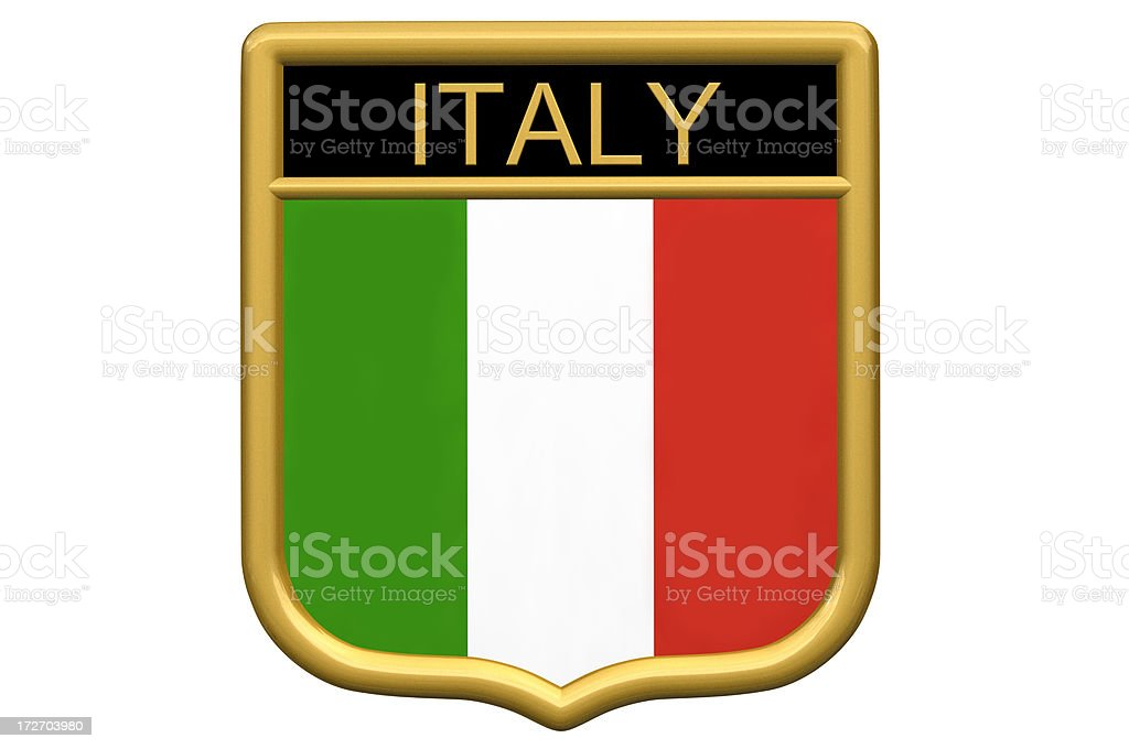Shield patch - Italy stock photo