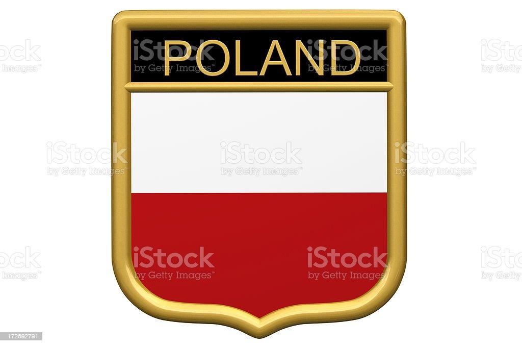 Shield Patch - Poland stock photo
