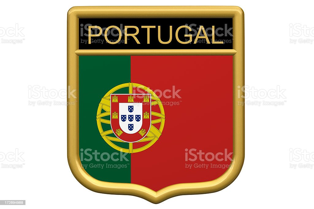 Shield Patch - Portugal royalty-free stock photo