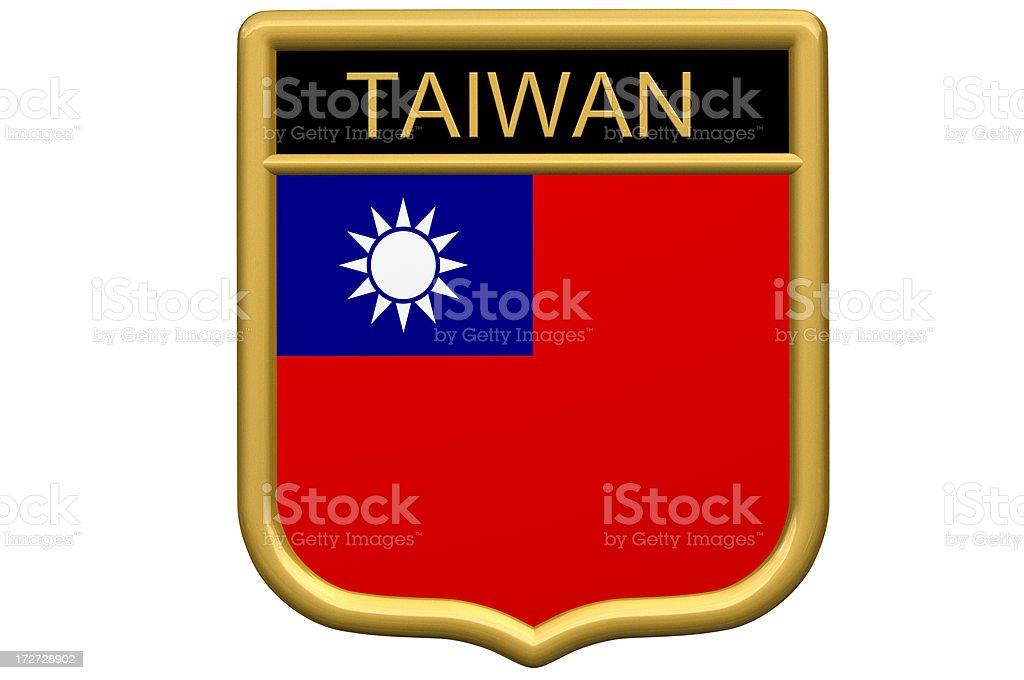 Shield Patch - Taiwan royalty-free stock photo