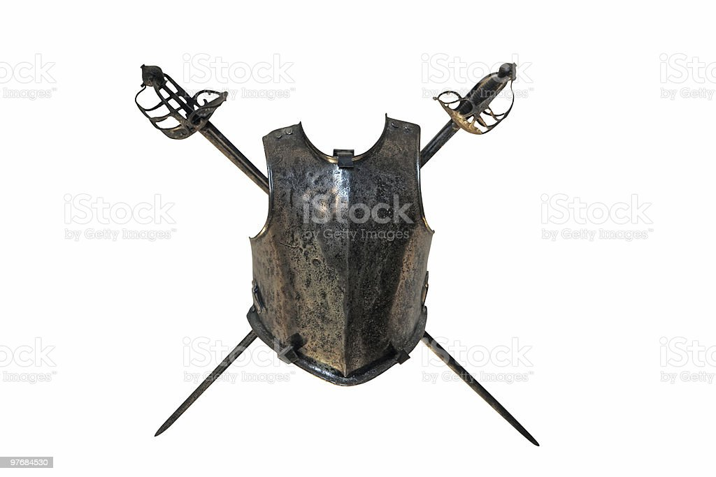 shield (with clipping path) stock photo