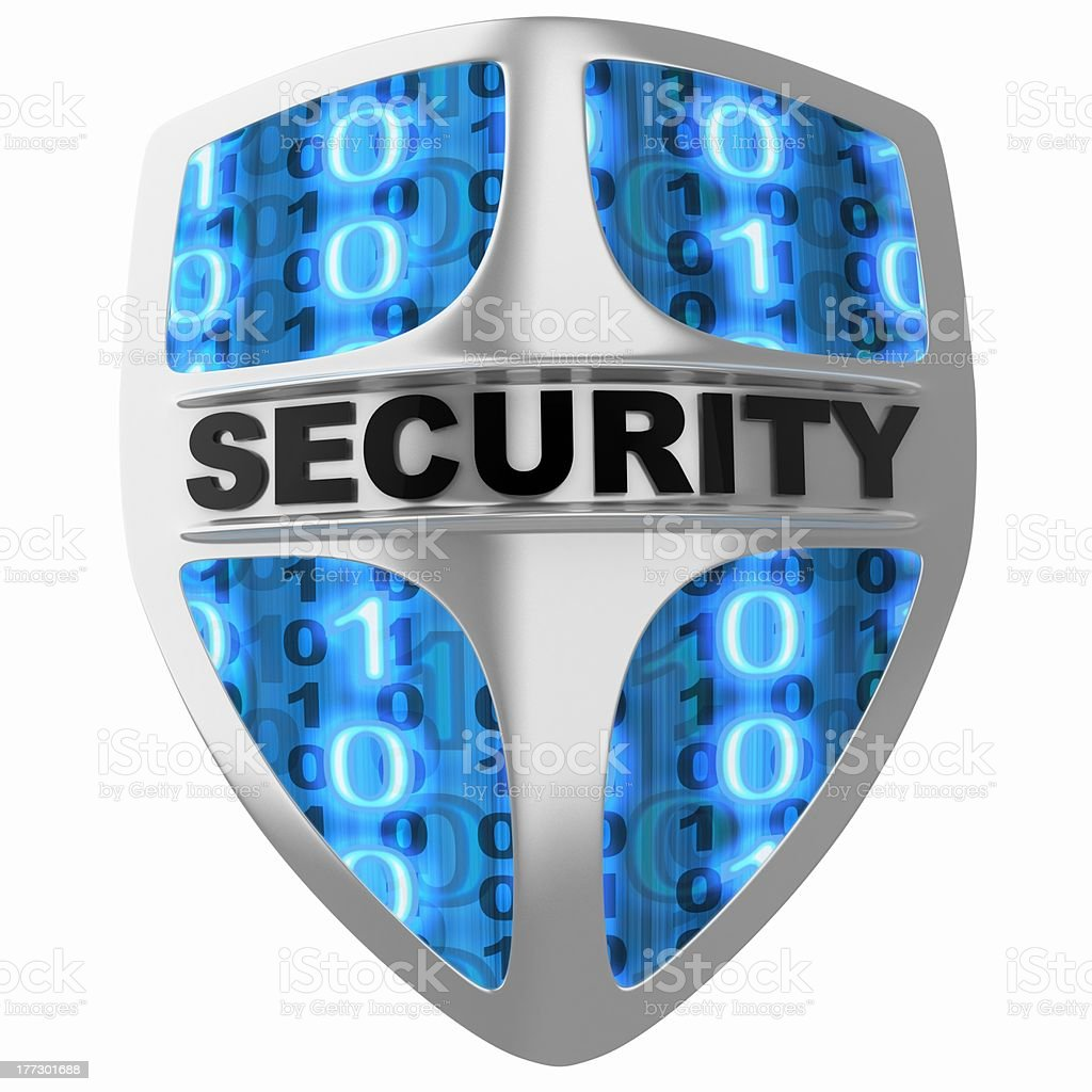 Shield security stock photo