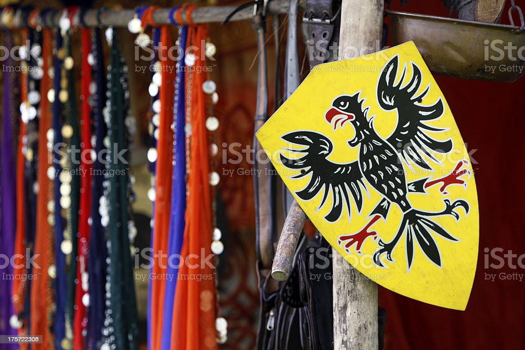Shield with eagle stock photo