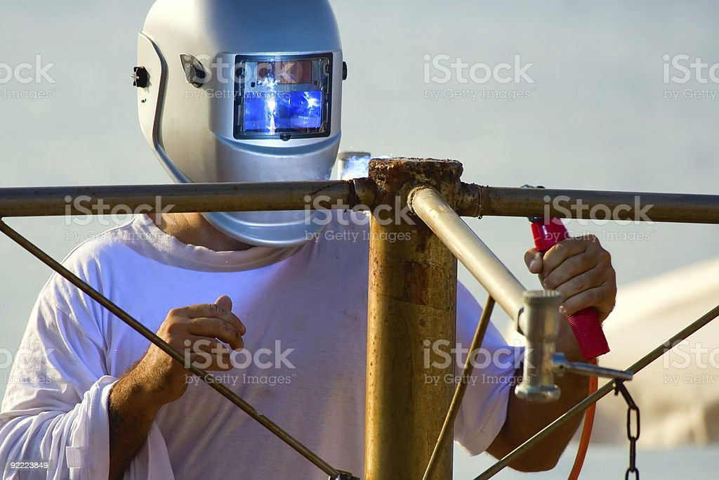 Shielded metal arc welding royalty-free stock photo