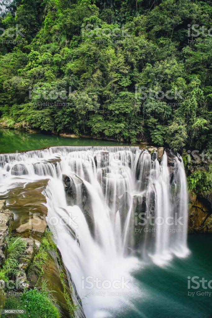 Shifen Waterfall in Pingxi District, New Taipei, Taiwan. stock photo