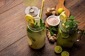 Shikanji is lemonade originating from the Punjab/India. Also known as shikanjvi or Nimbu Pani or sherbet. popular summer cold drink