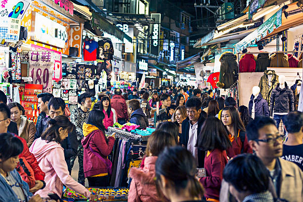 Shilin Night Market Shilin Night Market in Taipei. night market stock pictures, royalty-free photos & images