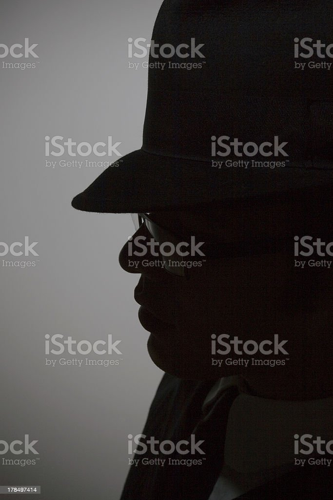 shilloette gangster royalty-free stock photo
