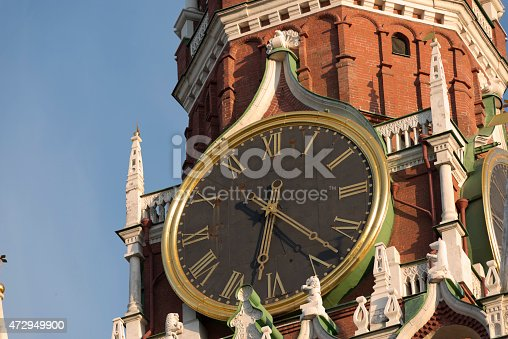 Ð¡himing clock on Kremlin in Moscow