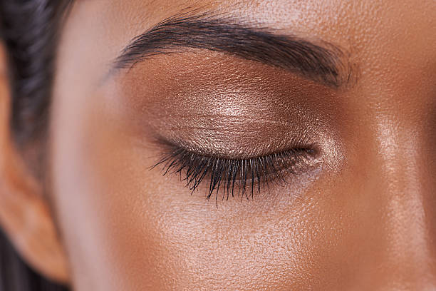 shimmer and shine - eyelid stock pictures, royalty-free photos & images