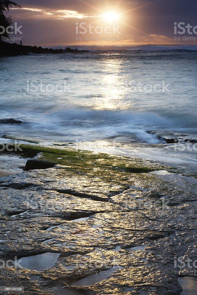 Shimmering Na Pali Coast royalty-free stock photo