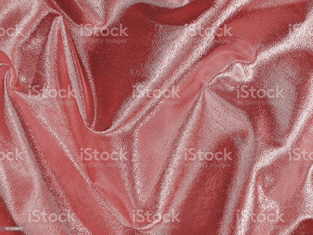 Shimmering pink fabric folds royalty-free stock photo