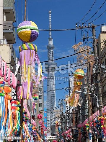 1008788822 istock photo Shimomachi Tanabata Festival in Tokyo 1008788668