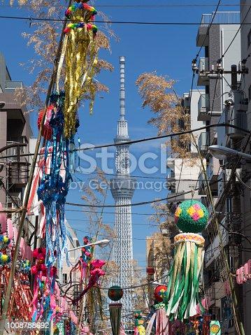 1008788822 istock photo Shimomachi Tanabata Festival in Tokyo 1008788692