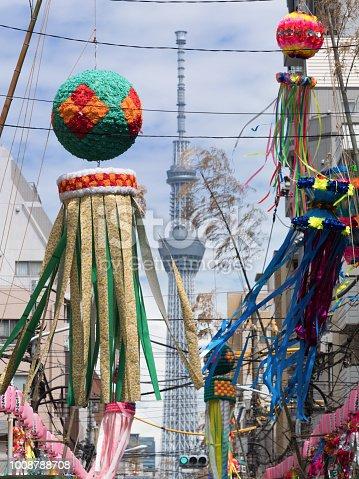 1008788822 istock photo Shimomachi Tanabata Festival in Tokyo 1008788708