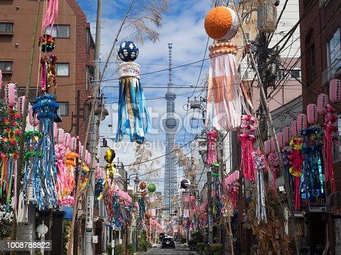 1008788822 istock photo Shimomachi Tanabata Festival in Tokyo 1008788822