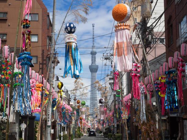 東京下町七夕祭り - 七夕の写真 ストックフォトと画像