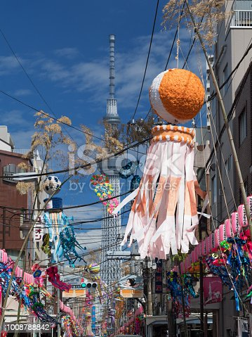 1008788822 istock photo Shimomachi Tanabata Festival in Tokyo 1008788842
