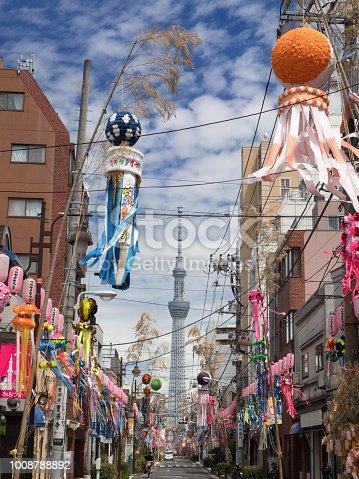 1008788822 istock photo Shimomachi Tanabata Festival in Tokyo 1008788892