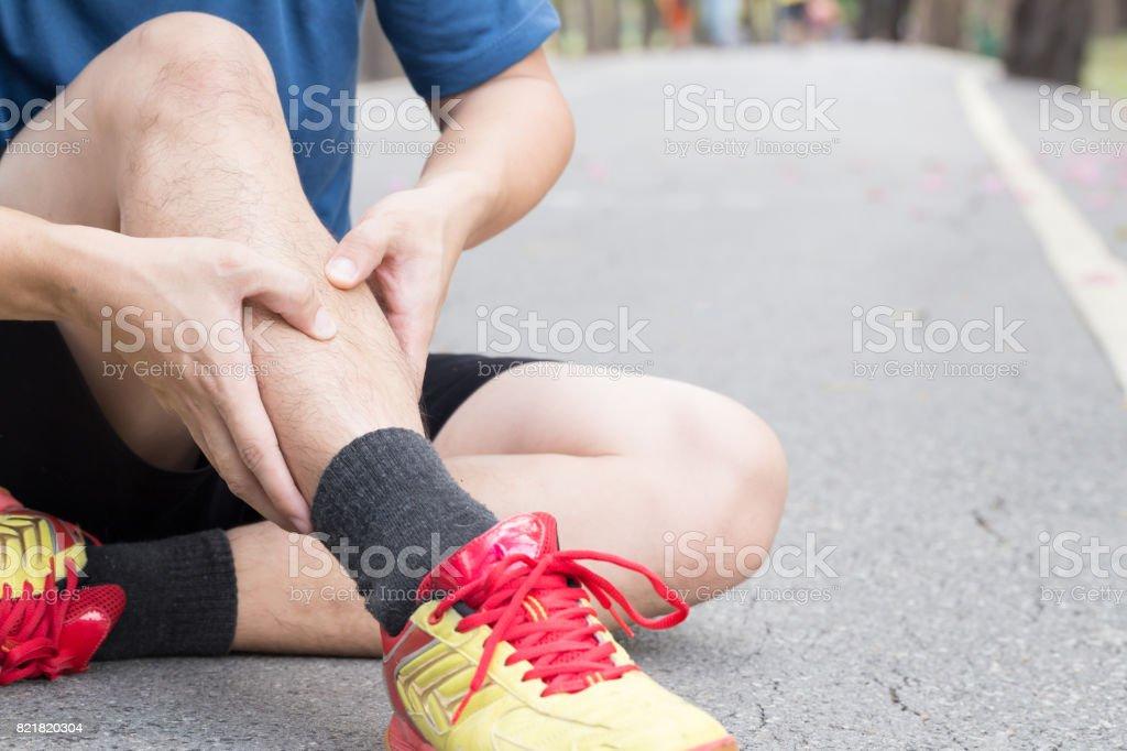 Shin Knochen Verletzungen Durch Laufende Splintsyndrom Stock ...