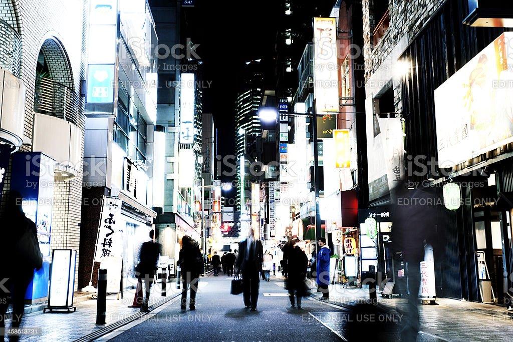 Shinbashi at night royalty-free stock photo