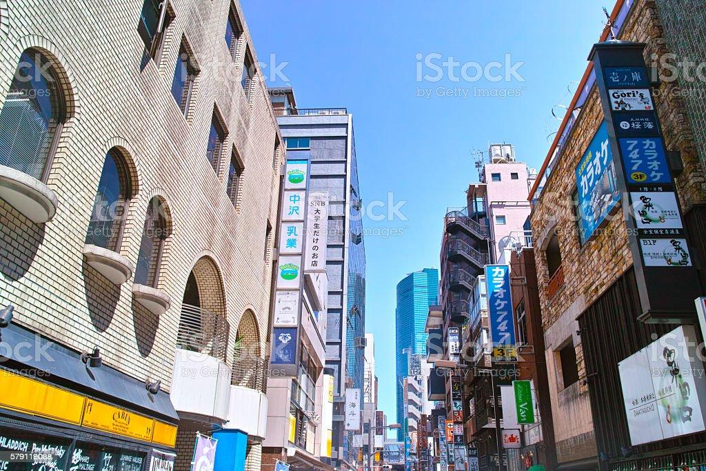 Shinbashi Station West of downtown stock photo