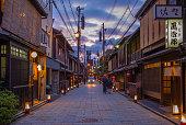 Shinbashi-dori Street view of Gion