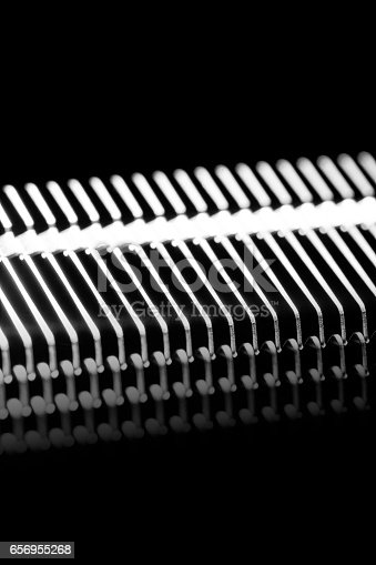 istock shine, metal texture with aluminium cooling fins 656955268