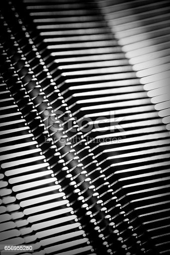istock shine, metal texture with aluminium cooling fins 656955280