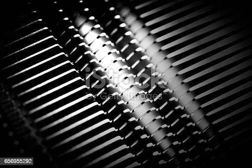 istock shine, metal texture with aluminium cooling fins 656955292