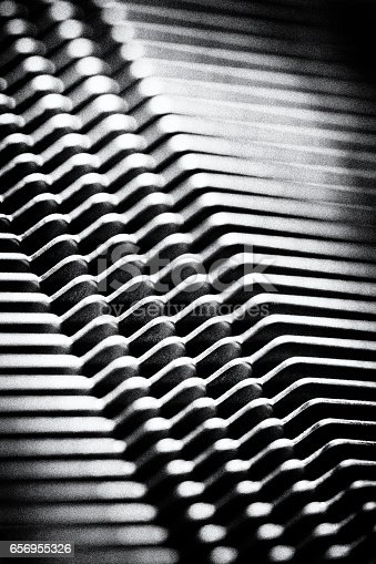 istock shine, metal texture with aluminium cooling fins 656955326