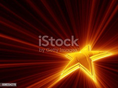 istock Shine Of Gold Star 538204275