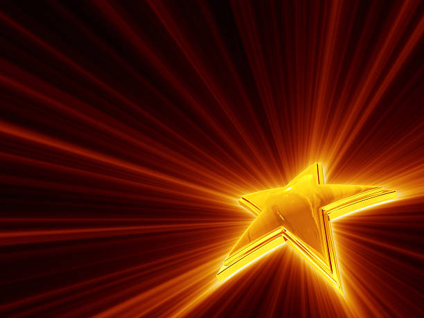 Shine Of Gold Star stock photo