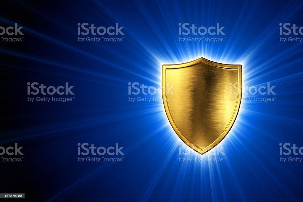 Shine of Shield royalty-free stock photo