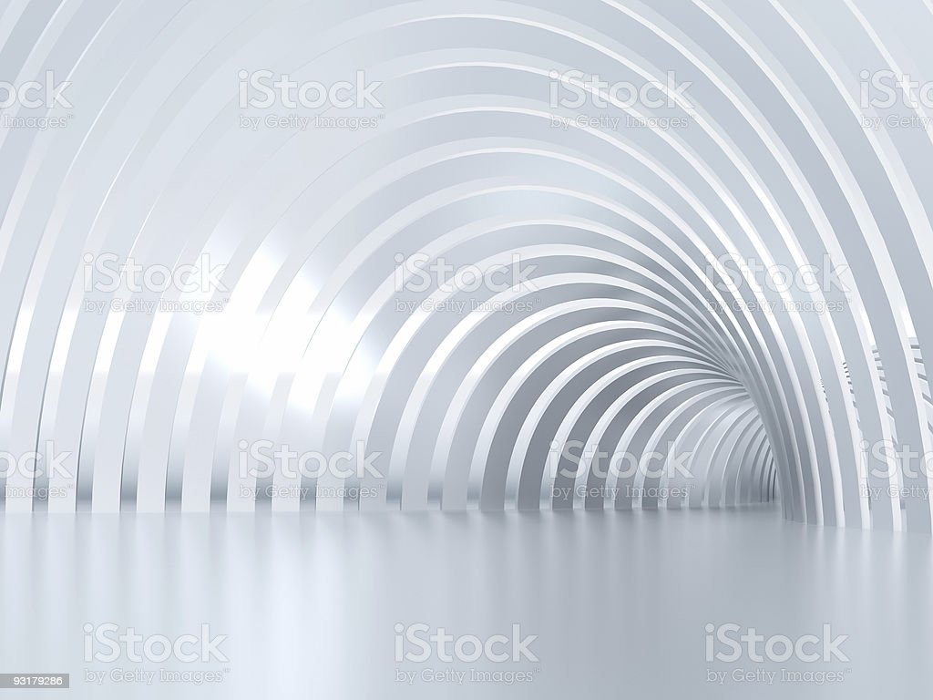 shined tunnel stock photo