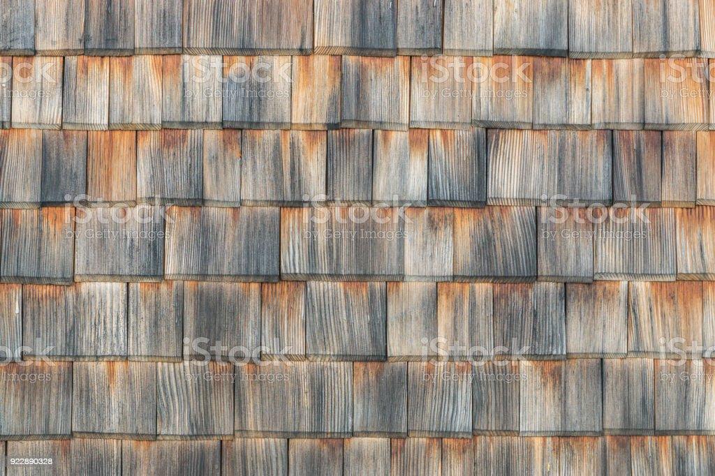 Bardeau d'ans fond fond en bois. Weathered shakes, belle texture de couleur. - Photo