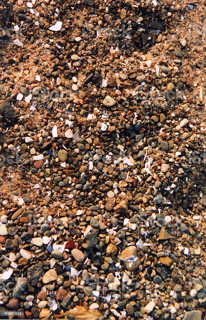 Shingle / sand royalty-free stock photo