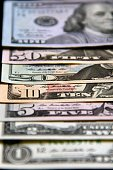 Shingle Stacked US Currency