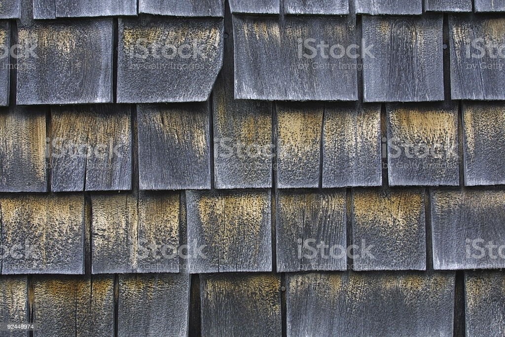 Shingles of wood stock photo