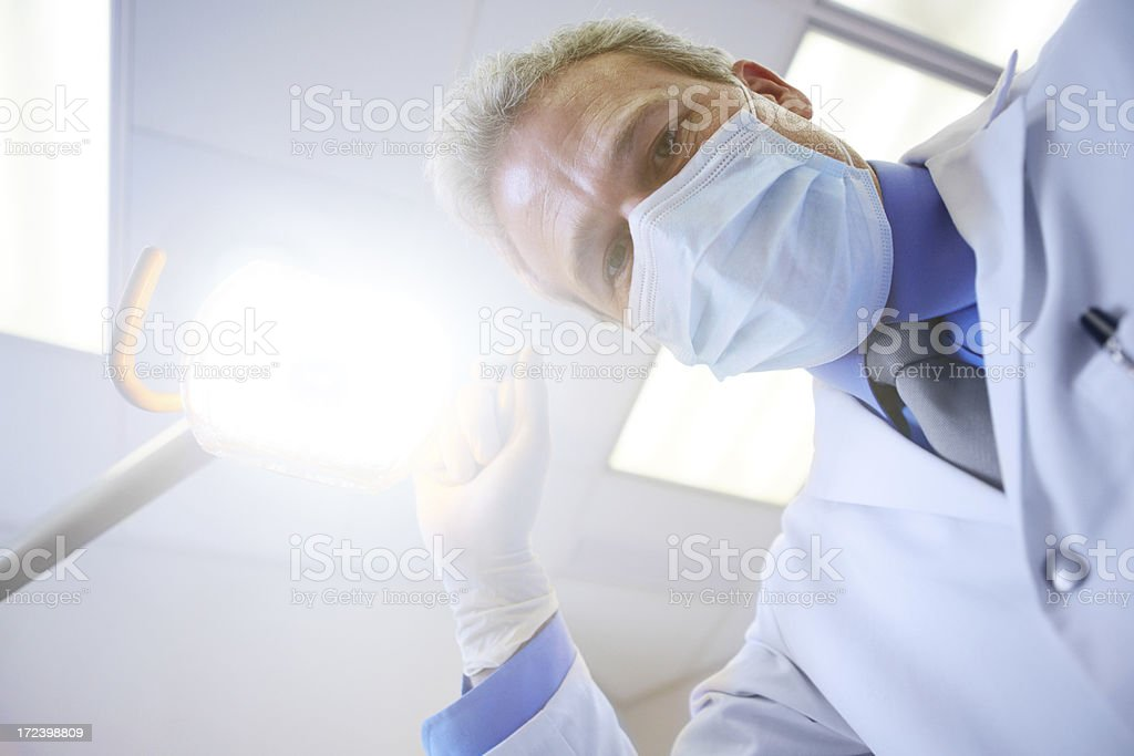 Shining a light on the importance of dental care! stock photo