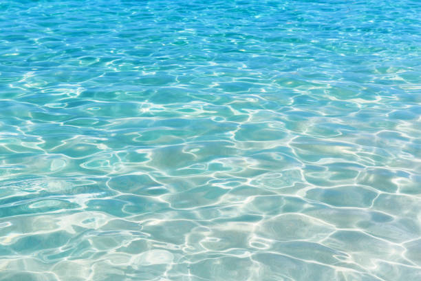 Shining blue water ripple background Shining blue water ripple background. Surface of water in swimming pool. turquoise colored stock pictures, royalty-free photos & images